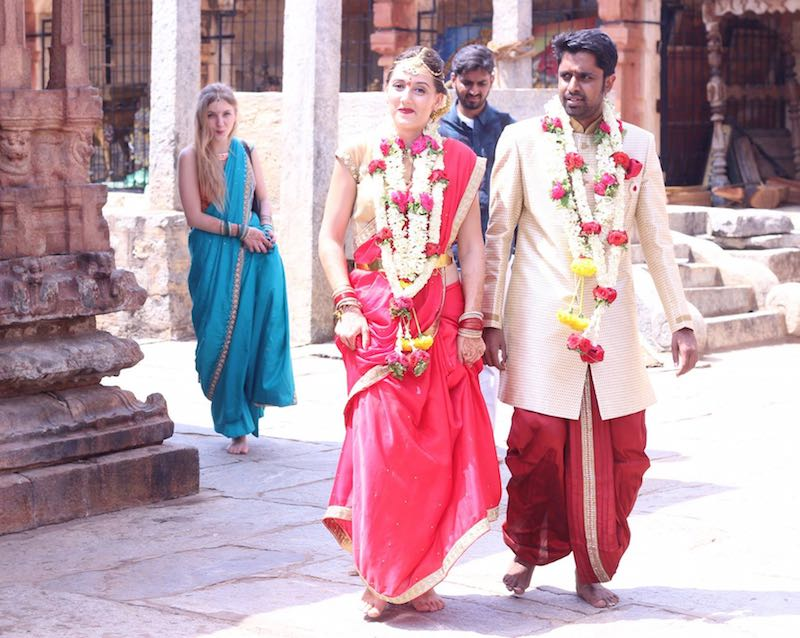 Santhosh Tuppad and Gina Enache, at their wedding